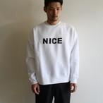 H.UNIT【 mens 】nice print crewneck sweat