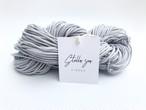 """【かせ】カラー3本撚りマクラメロープ""""Mist Gray"""" [太さ2mm / 77m]"""