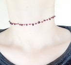 動脈 choker 【antique red】