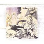 【嶋波誌麻】白雲石コースター・天使とドラゴン/コースター