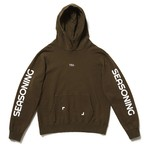 "SEASONING × COLOR HOODIE ""TEA"" - GREEN"