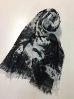 黒染めストール 「黒霧 -くろきり-(Black fog)」