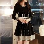 【dress】ジャカードAラインセレブリティワンピース25441462