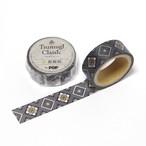 紬Classicマスキングテープ|大島紬龍郷柄1|黄