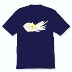 羽づくろうオカメインコTシャツ(シナモンパールパイド)ネイビー