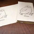 【ブックカバー】文庫サイズ/柄:フクロウのみーつく