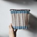 【 トールバスケット 】カゴ ビニール 日本製 昭和後期 ヴィンテージ