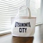 【在庫限り】キャンバスミニトートバッグ UTSUNOMIYA CITY ホワイト