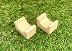 木製試験管台座(2個、セット)