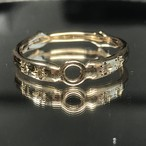 【セミオーダー】【単体購入不可】K10素材:デザインF 星留めダイヤ追加料金