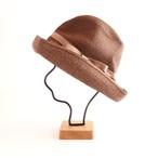 mature ha./BOXED HAT 101 darkbrown×pink beige