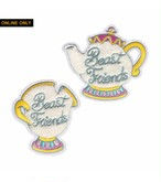 "labarbuda""BEAST FRIENDS MUG AND TEAPOT PATCH SET BY LA BARBUDA"""