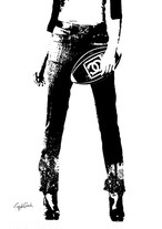 Craig Garcia 作品名:Rugby Girl 01  A3キャンバスポスター【商品コード: cgrug01】