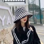 【小物】千鳥格子新作トレンドファッション感満々帽子25058754
