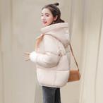 【outer】冬コート防寒コットンフード付きショートコート