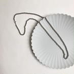 シルバー ボール ロング ネックレス ステンレス製