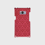 スマホケース Galaxy S8(SC-02J/SCV36) Rio Logo - Damask ver.(Wine Red)