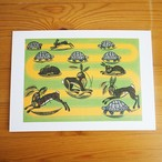 【イギリス】 Edward Bawden ポストカード (ウサギとカメ)