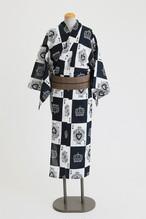 ROBE JAPONICA メンズ浴衣 トランプ 綿100% 仕立て上がり 男性用