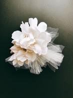Tulle Head Dress スワロフスキー・パール《off white》