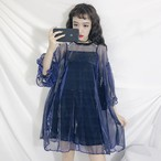 【set】ファッション配色キャミソール+Tシャツセットアップ21904509