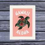 アートプリント A4(Honu Hibiscus)