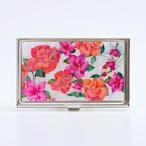 天然貝 名刺カードケース(バラ・フクシア・ツツジ ~愛の花言葉~)<螺鈿アート>【ラッピング対応】