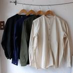 【再入荷】ブルガリアタイプ50'sグランパシャツ(長袖) 4色