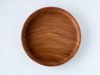 【訳あり】【現品限り】ブビンガ  良い木目の小さな丸盆 小さな干割れ 直径20㎝ 無塗装