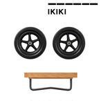 IKIKI(イキキ) ホイール セット オーク 天然木材 木製 機能コンテナ 組み立て 折りたたみ ノックダウン方式 除湿効果 通気性 収納 アウトドア キャンプ