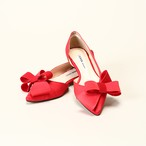 Big Ribbon Flat Pumps