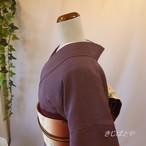 正絹 江戸小紋 紫根の通し 単衣