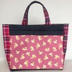 お散歩バッグ 小さいシーズーがいっぱい! サイズ:大 ピンク