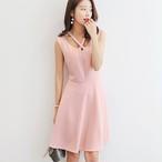 【dress】新作着痩せ透かし彫りデートワンピース22291746
