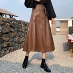 【bottoms】着痩せ無地ファッション合わせやすいスカート24071138