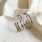 vintage sterling silver double open hoop