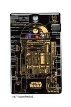 FLASH R2-D2 基板アート ICカードケース 黒 【名入れ無料サービス実施中】