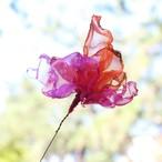 カラフルオーガンジーのアートフラワー【造花】|オレンジとピンク