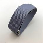 ベルクロダイバー ナイロンストラップ  ライト・グレー 20mm 腕時計ベルト
