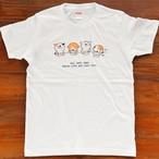にゃんきーとすTシャツ「ごはん」ホワイト