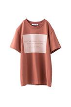 メッセージロゴTシャツ <テラコッタ>