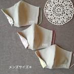 【送料無料】 立体マスク [メンズサイズ] ☆ 3枚セット (カラフル)