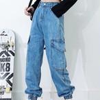 ビンテージストレートサイドポケットデニム 韓国ファッション