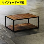 IRON FRAME LOW TABLE[TEAK COLOR]サイズオーダー可