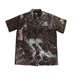 VIRUS WORLD 3M Spider Web Cargo Shirts BLACK