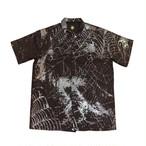 VIRUS WORLD 3M Spider Web Cargo Shirts BLACK