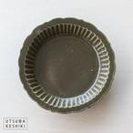 [マルヤマウエア]7寸 しのぎ深皿(オリーブ)