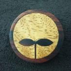 wooden inlaid charm IB-005-EB