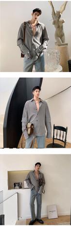 ☆MENS  チェックスプリットシャツ 韓国ファッション