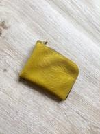 シン L字財布 カードケース 本革 ボタニカル イエロー
